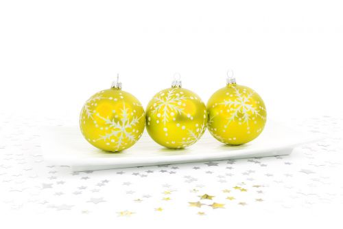 Yellow Bauble Decoration