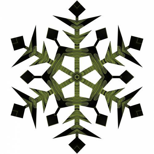 Yellow Black Snowflake
