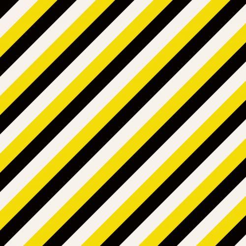 Yellow Black White Stripes