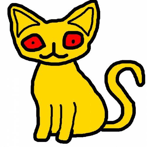 сразу картинки желтого котика открытом грунте