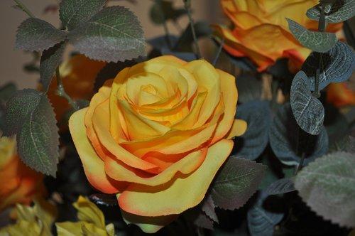 yellow flower artificial  artificial flower  decorations artificial flower