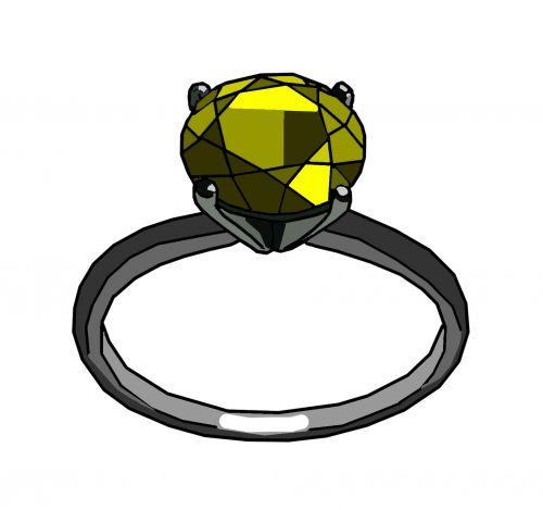 Yellow Gem Ring