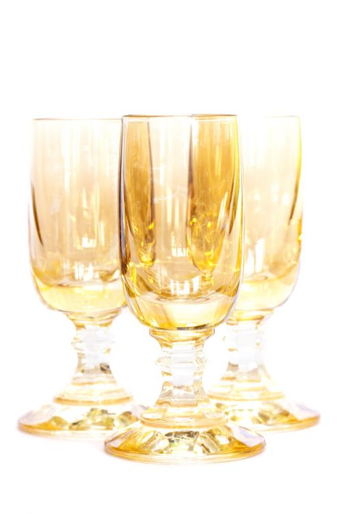 Yellow Glasses Isolated