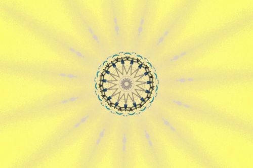 Yellow Glowing Star