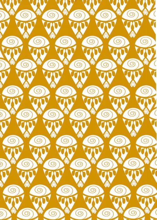 Yellow Henna Inspired Pattern