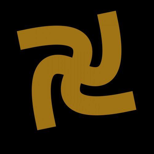 Yellow Hindu Symbol