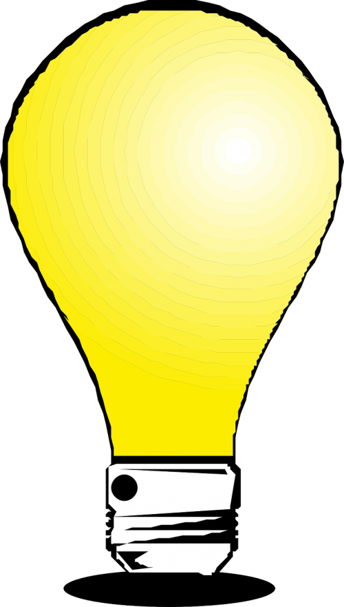 yellow light bulb lightbulb bulb