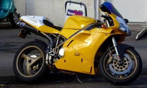 Yellow Racing Motorcycle