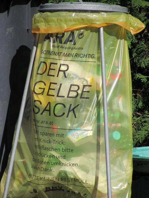 yellow sack recycling plastic