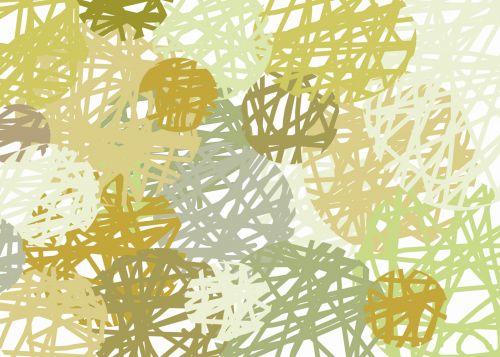 Yellow Scribble Circles
