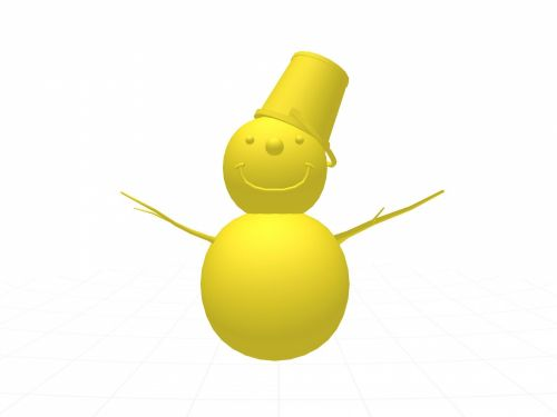 Yellow Snowman