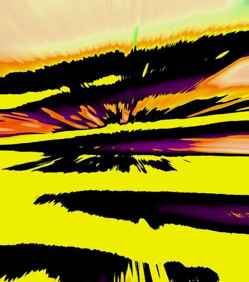 Yellow Splatter Wedges