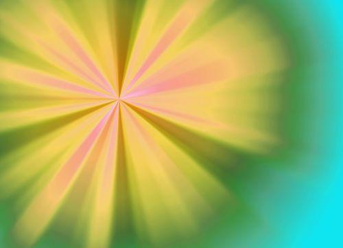 Yellow Sunburst Background