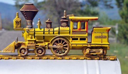 Yellow Train On Mailbox