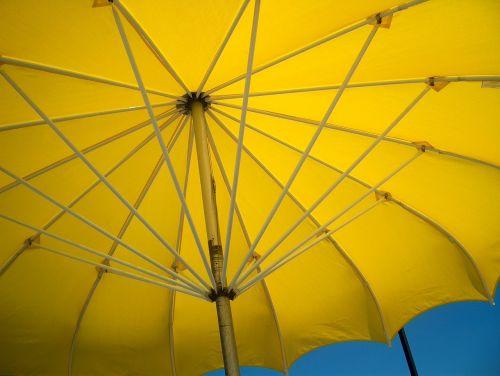 yellow umbrella open bright