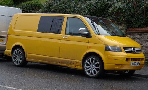 Yellow Volkswagen Camper Van