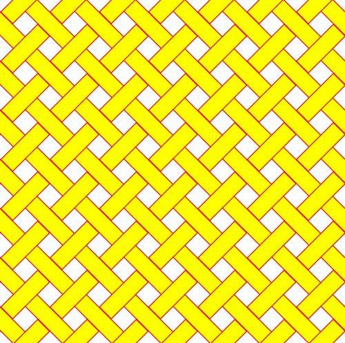 Yellow Weave Wicker Pattern