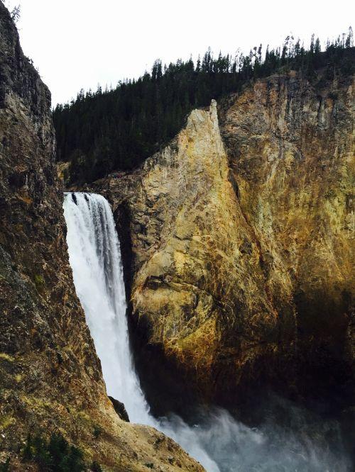 yellowstone grand canyon waterfall