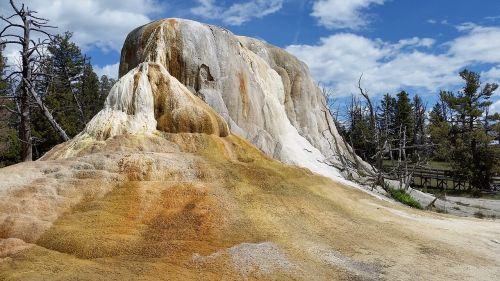 yellowstone mammoth hot springs orange spring mound