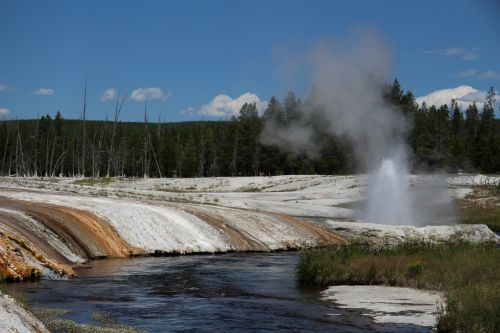 Yellowstone Geyser And Hot Spring