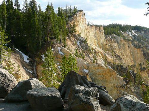 geltonojo akmens nacionalinis parkas,Vajomingas,usa,Nacionalinis parkas,peizažas,kraštovaizdis,gamta,vasara,žinomas,smėlio akmuo,kietas,bankas