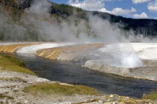 yellowstone national park river landscape