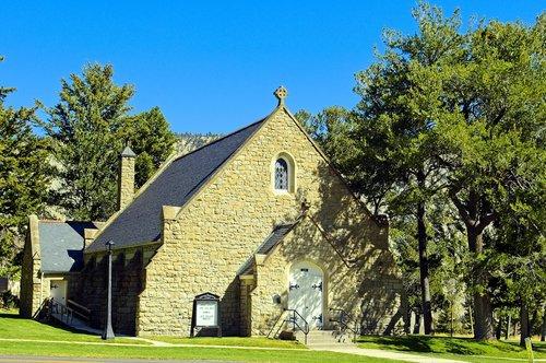 yellowstone park chapel  chapel  church