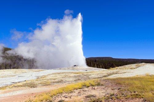 yellowstone's old faithful geyser  upper  geyser