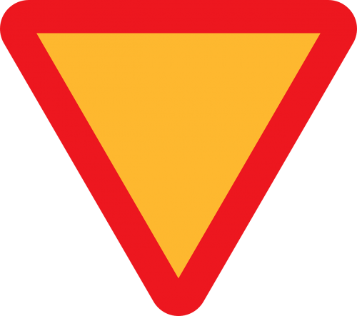 yield give way sign right of way