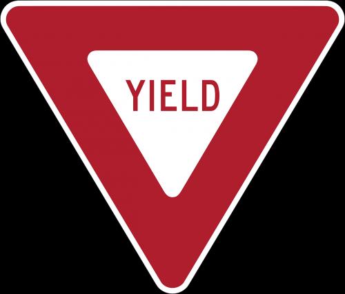 yield give way road sign