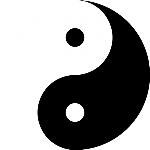 yin and yang harmony black
