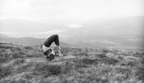 yoga mountain landscape
