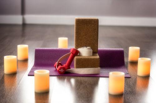 yoga candle block