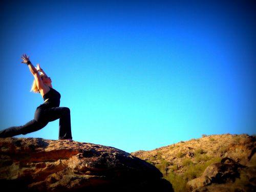 yoga blue sky pose