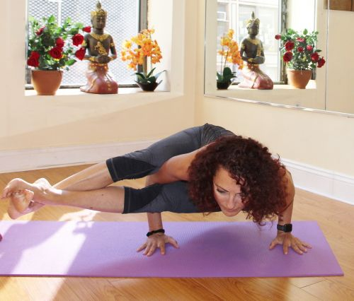 yoga pose woman