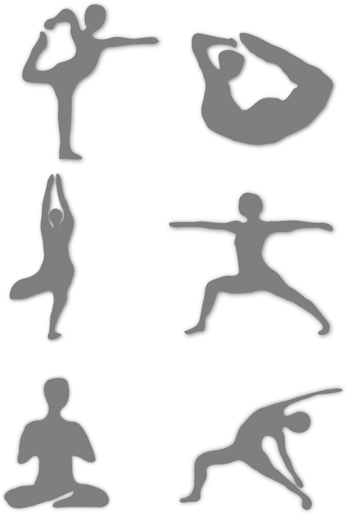 joga,kelia,kario kelia,fitnesas,ištempimas,balansas,šokėja,pratimai,meditacija,sportas,stilizuotas,Stick,kontūrai,siluetas,figūra,pozicijos,nemokama vektorinė grafika