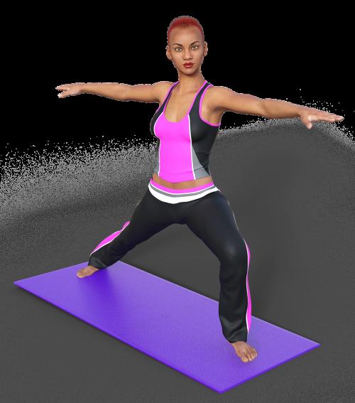 yoga woman mat