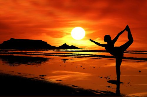 Free Photos Yoga Pose Silhouette Search Download