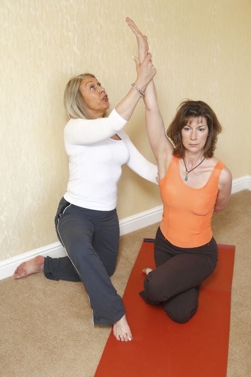 yoga therapy frozen shoulder stretching