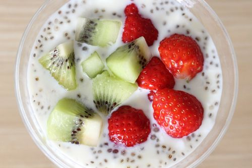 yogurt chia seeds fruit