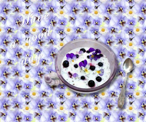 Yogurt With Blueberries 1