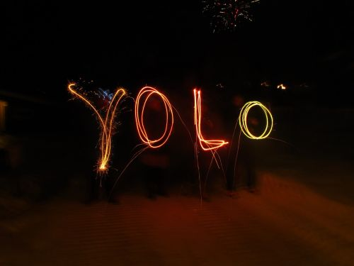 yolo sparklers new year