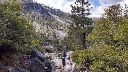 yosemite backpacking hiking