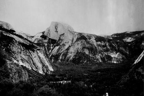 josemitas,Nacionalinis parkas,Kalifornija,puse kupolas,juoda ir balta,gamta,kalnas,kraštovaizdis,nacionalinis,lauke,žygiai,parkas