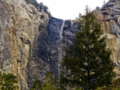 Yosemite Falls Rock Face