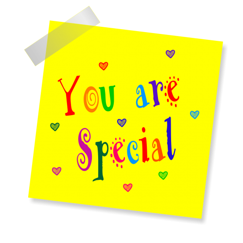 you are special yellow sticker note