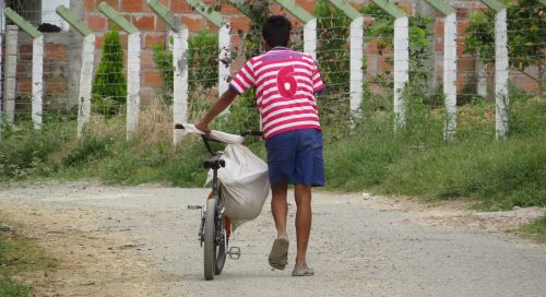 young peasant bicycle