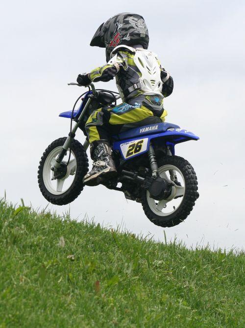 young boy motocross