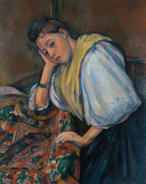 woman at a table young italian