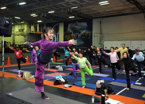 young woman yoga classes fitness